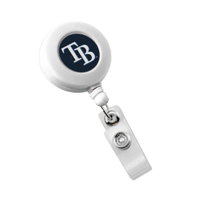 Tampa Bay Rays Retractable Badge Reel Id Ticket Clip White