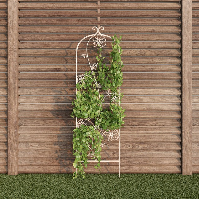 Garden Trellis- For Climbing Plants- Decorative Flower Stem Metal Panel