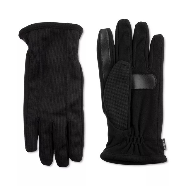 Isotoner Signature Men's Stretch Smartouch Gloves Black Size Large
