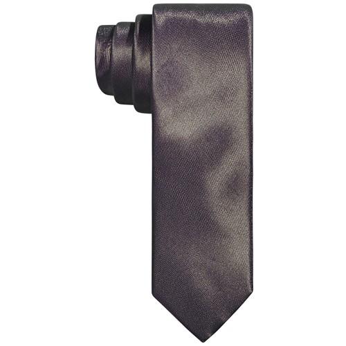 Tallia Men's Slim Taupe Textured Tubular Tie Taupe One Size