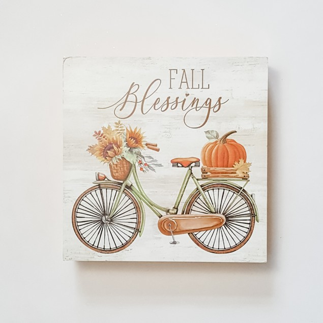 Fall Blessings Box Sign