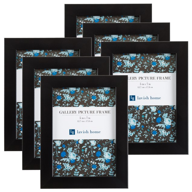 Black Picture Frame 5x7, Set of 6 By Lavish Home