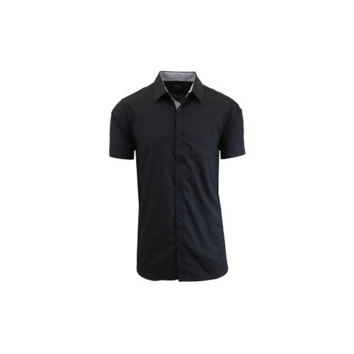 Men's Slim Fit Short Sleeve Dress Shirts (S-5XL)