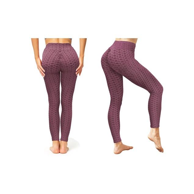 Women's Textured High-Waist Booty-Shaping Leggings
