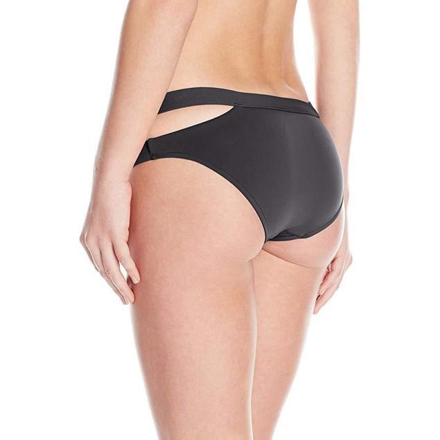 Seafolly Women's Active Split Band Hipster Bikini Bottom, Black, 2