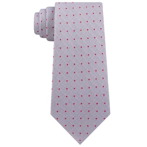 Calvin Klein Men's Holly Pin-Dot Slim Silk Tie Gray Size Regular