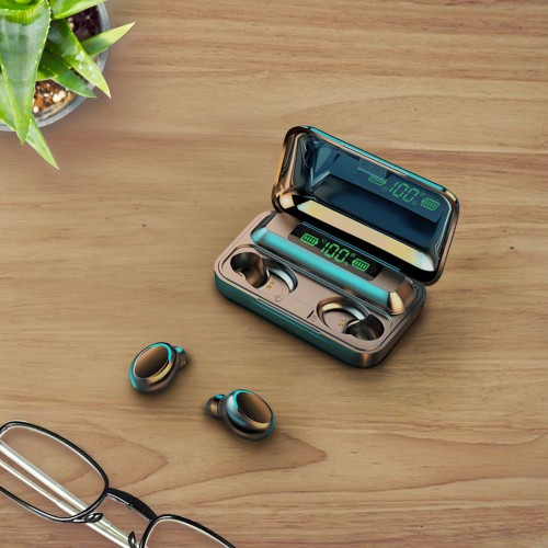 Waterproof Earbuds With Charging Case - 2 Colors
