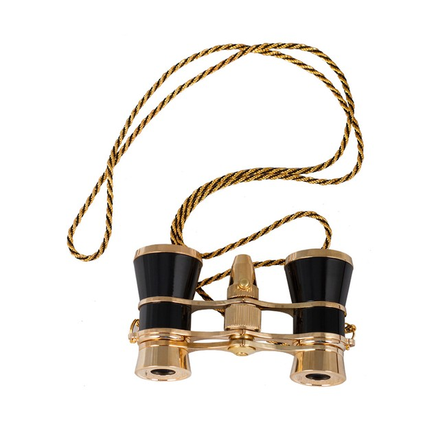 Levenhuk Broadway 325F Opera Glasses with LED Light And Chain - Black