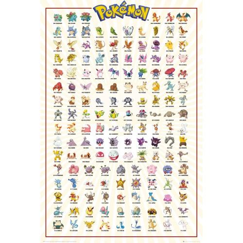 Pokemon Kanto 151 Maxi Poster