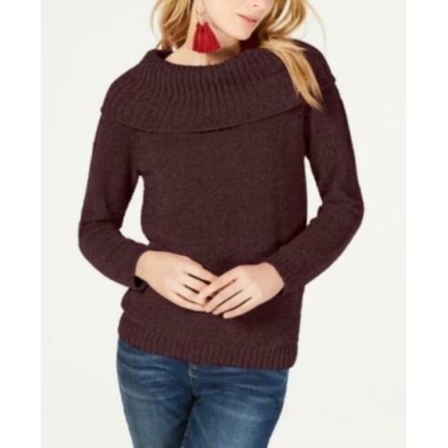 INC International Concepts Women's Chenille Sweater Medium Red Size Medium