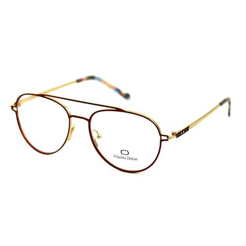 Charles Delon Women's Eyeglasses ML6077 C1 Satin Red 55 16 140 Stainless Steel