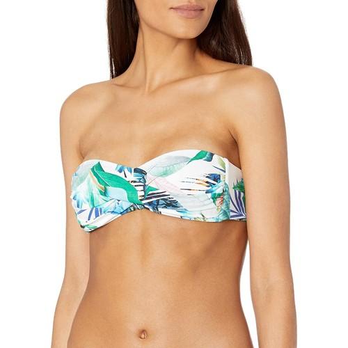 La Blanca La Blanca Women's Hipster Bikini Swimsuit Top, Olive/Lets Duet, 8