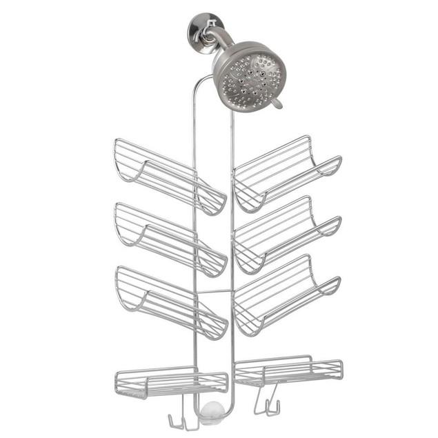 Silver Eight-Shelf Verona Hanging Shower Caddy