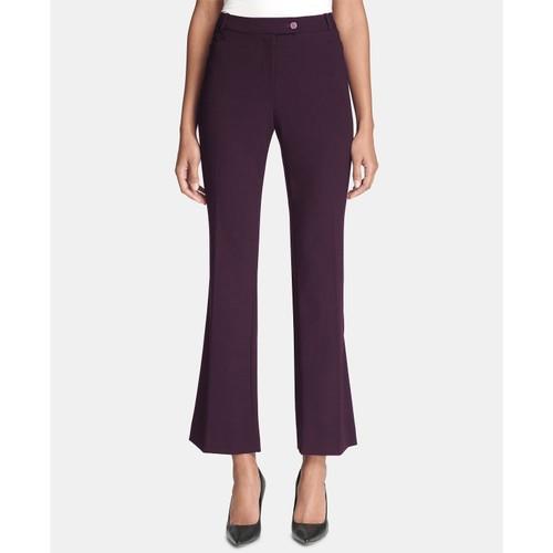 Calvin Klein Women's Modern Fit Trousers Purple Size 2