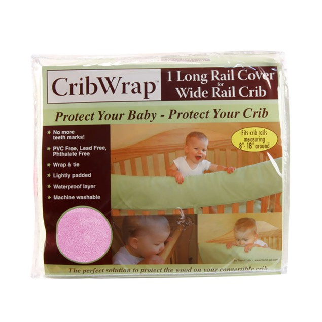 Trend Lab Cribwrap Wide Rail Cover - Long Pink Fleece