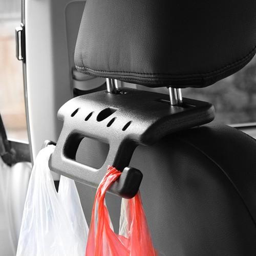 Headrest Holder with Bag Hook