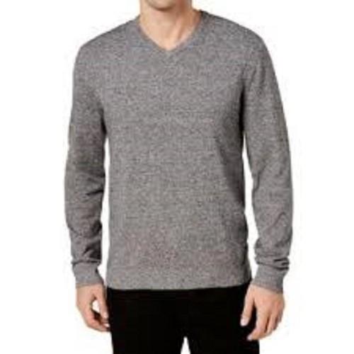 Alfani Men's V-Neck Sweater Black Size Extra Large