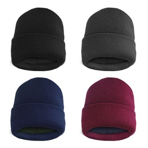 Thermal Fleece Lined Baggy Fold Over Winter Hat