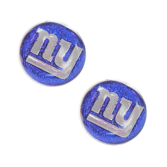 New York Giants Glitter Sparkle Post Stud Logo Earring Set Charm Gift