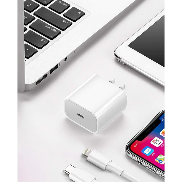 18W PD USB-C to 8 Pin iPhone Cable Fast Charger for AirPods