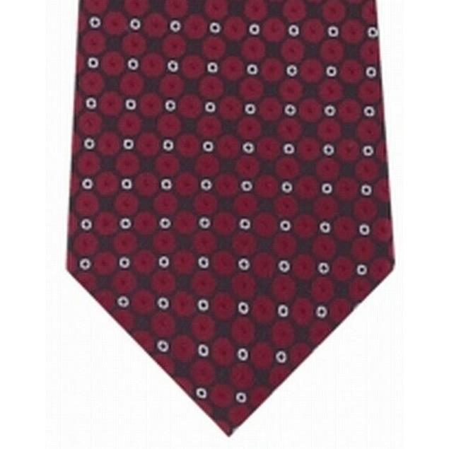 Kenneth Cole Reaction Men's Mosaic Slim Geo Tie Red Size Regular