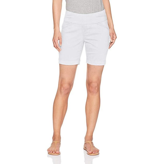"Jag Jeans Women's Petite Ainsley 7"" Pull On Short, White, 12P"