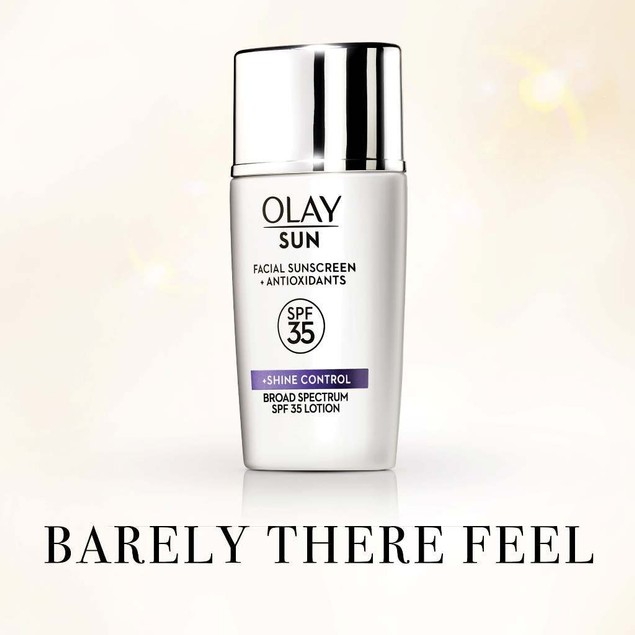 Olay Sun Facial Sunscreen + Antioxidants + Shine Control Lotion, 1.3 Oz.