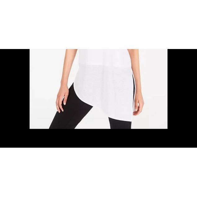 Alfani Women's Vented Hem Asymmetrical Tunic White Size Petite Small
