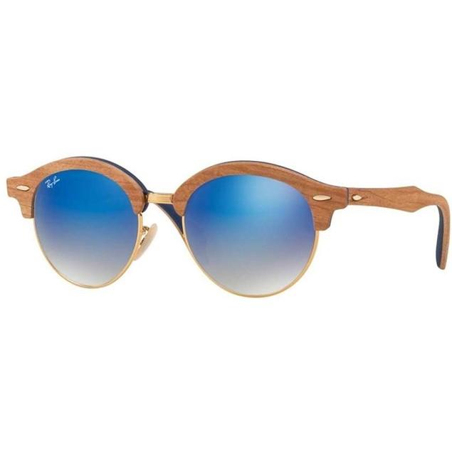 Ray-Ban Wood Iridium Round Sunglasses - RB4246M-11807Q-51