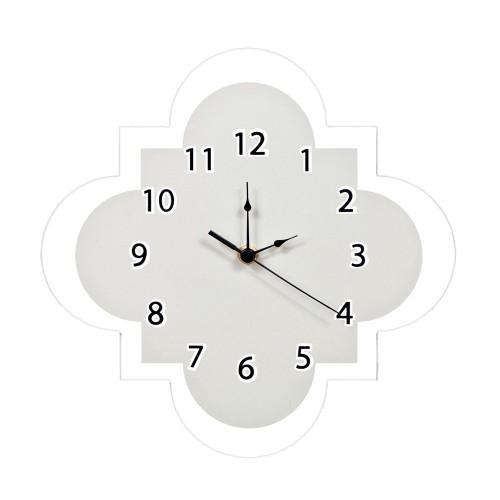 Trend Lab Gray Quatrefoil Wall Clock