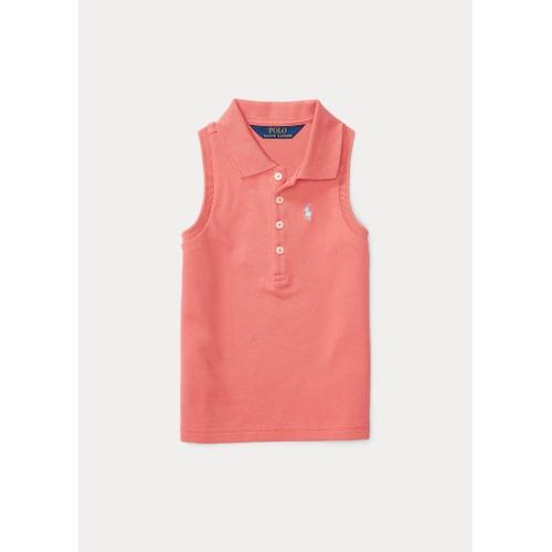 Ralph Lauren Children's Wear Stretch Sleeveless Polo Shirt, Size 6, Salmon