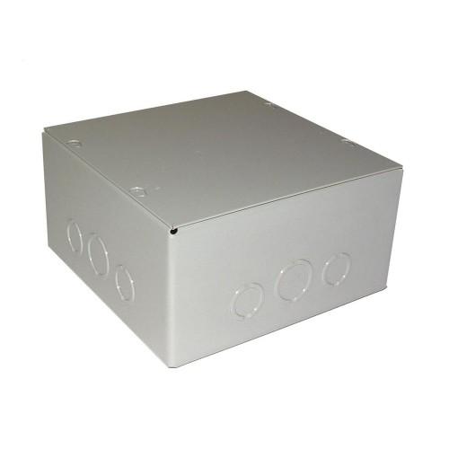 "Hubbell Indoor Pull Box Enclosure Screw Cover 8"" X 8"" X 4"" Steel Bulk, Gray"