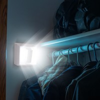 2-Pack: Bright Basics Wireless Dual LED Light Switch + FREE Batteries