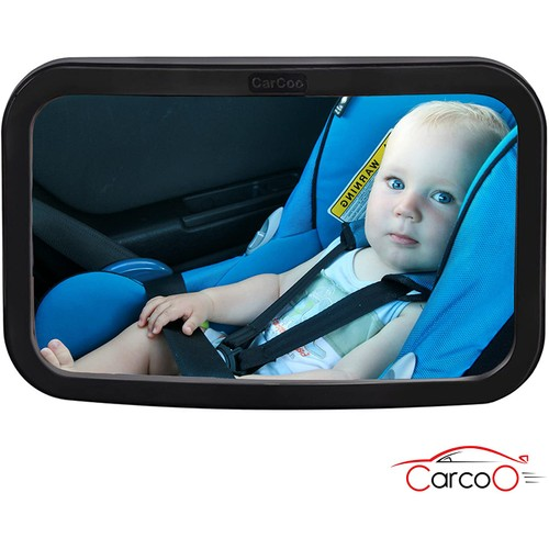Baby Car Mirror by CarCoo -Black or Grey
