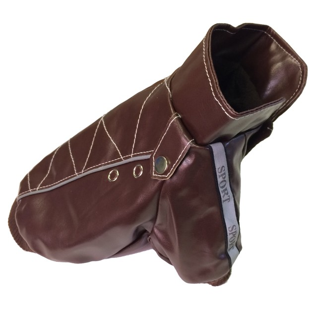 Wuff-Rider Fashion Suede Stitched Pet Coat