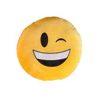 Wink Face Yellow Emoji Pillow