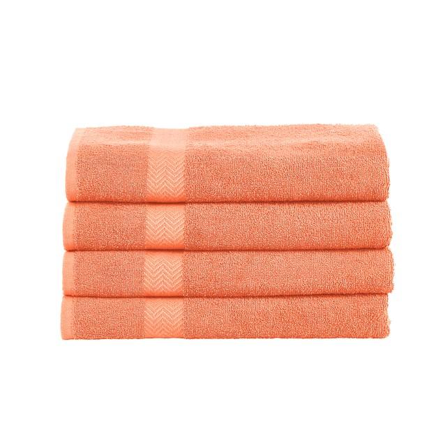 Eco-Friendly Cotton 4-Piece Bath Towel Set, by Blue Nile Mills