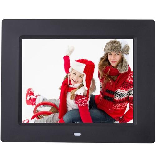 Costway 8'' IPS LCD Digital Photo Frame Calendar Clock Function MP3 Photo V