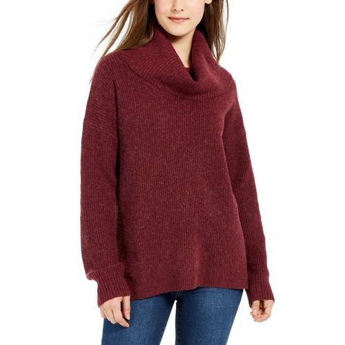 Hippie Rose Juniors' Turtleneck Sweater Purple Size Extra Large