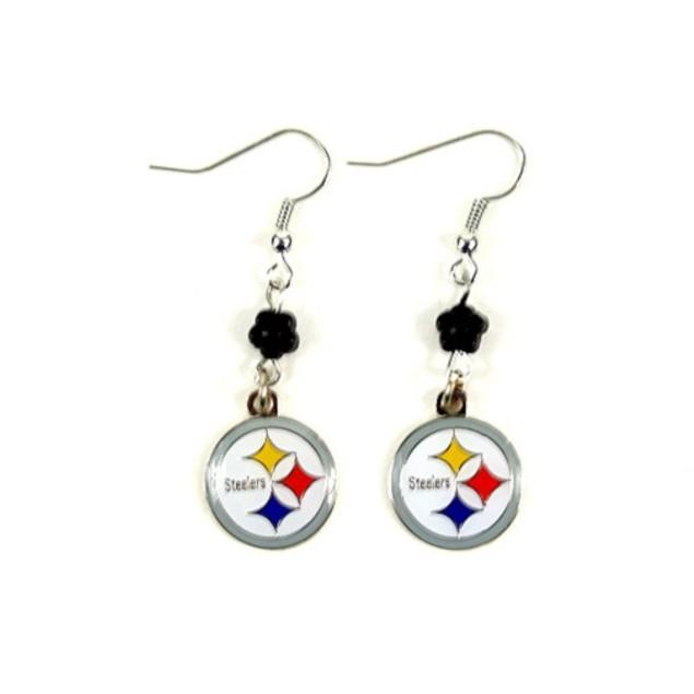 Pittsburgh Steelers NFL Sophie Style Dangle Earrings