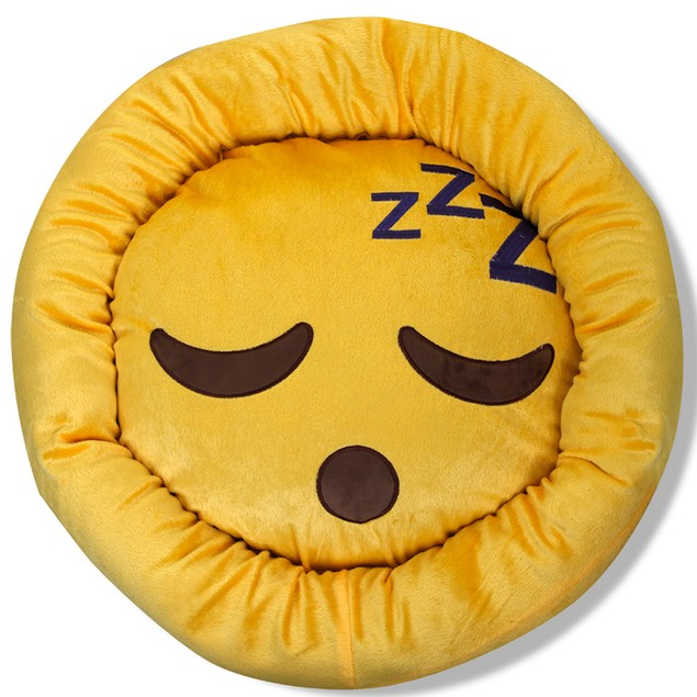 "Ultra- Soft Emoji 23"" Round Pet Bed"