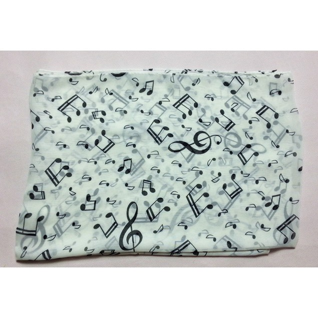 Women Lady Musical Note Chiffon Neck Scarf Shawl Muffler Scarves