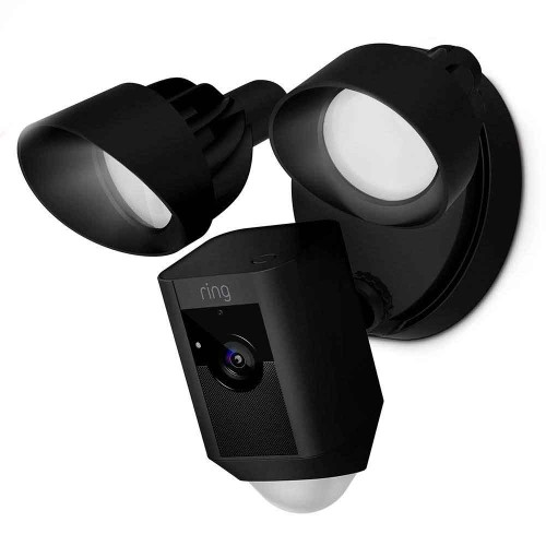 Ring Security HD Camera Floodlight Motion-Activated & Siren Alarm - Black