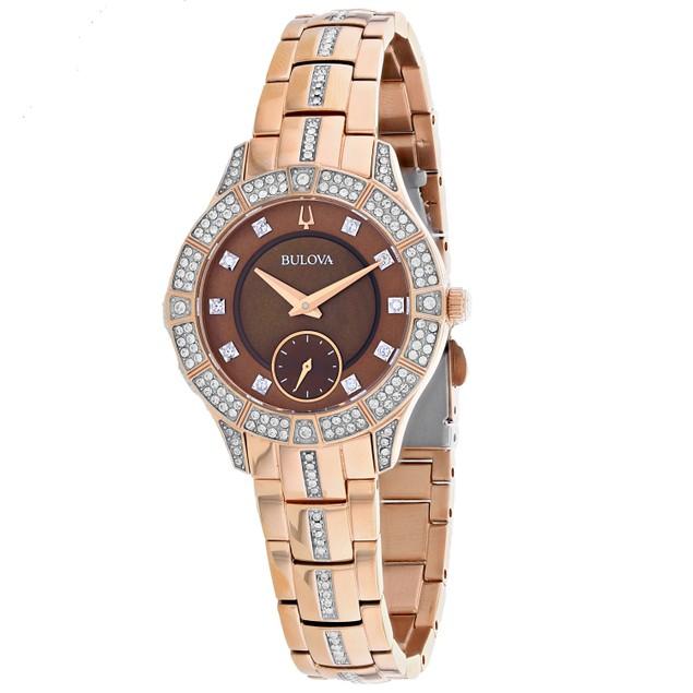 Bulova Women's Phantom Brown Dial Watch - 98L284