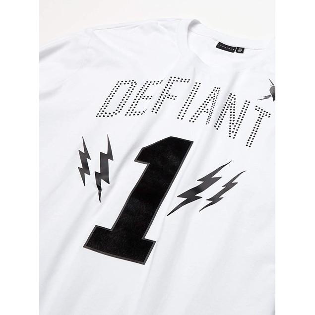 Sean John Long-Sleeve Defiant 1 Graphic T-Shirt White 2 Extra Large