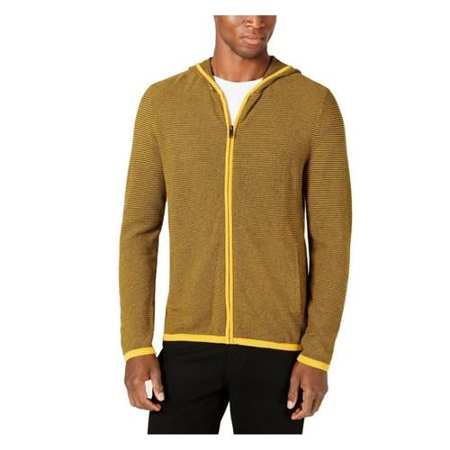 Alfani Men's Sweater Hoodie Yellow Size Small