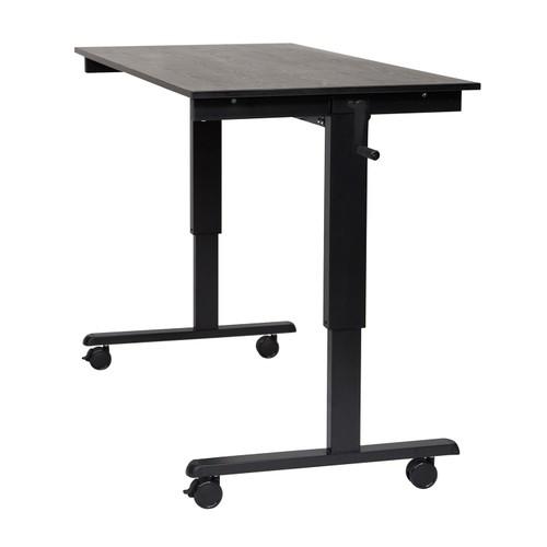 "60"" High Speed Crank Adjustable Desk - Black"