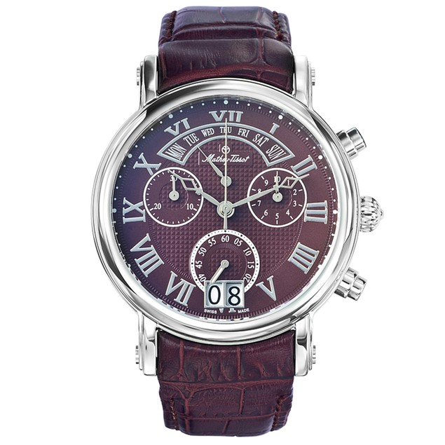 Mathey Tissot Men's Retrograde Chrono Brown Dial Watch - H7030AM
