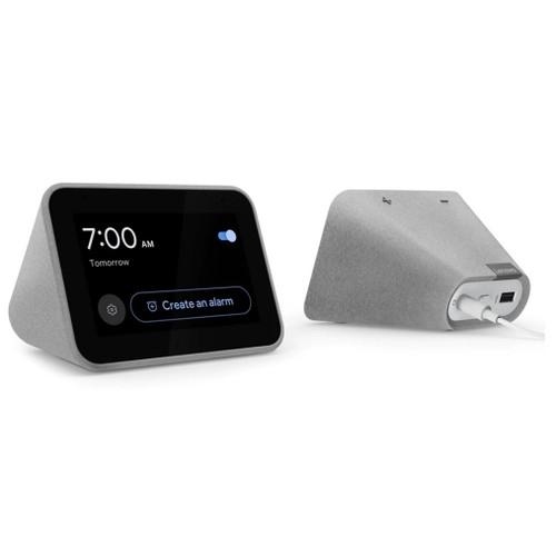 Lenovo Smart Clock with Google Assistant, Grey (Certified Refurbished)