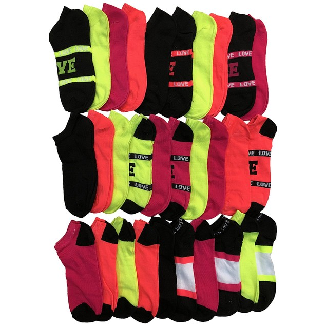 30 Pairs Soxo Women's Assorted Low-Cut Socks